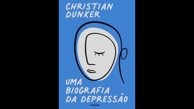 Capa de livro, com rosto triste desenhado