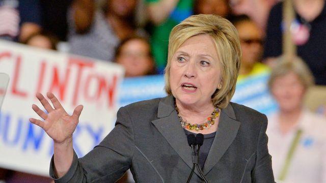 Hillary Clinton, durante su campaña en Raleigh, Carolina del Norte.
