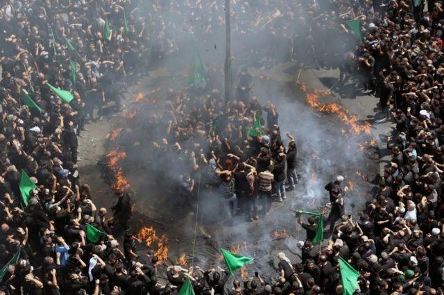 مراسم عاشور در مرکز تهران