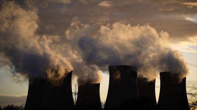 Estación de energía en Reino Unido.