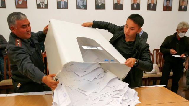 Подсчет голосов на парламентских выборах