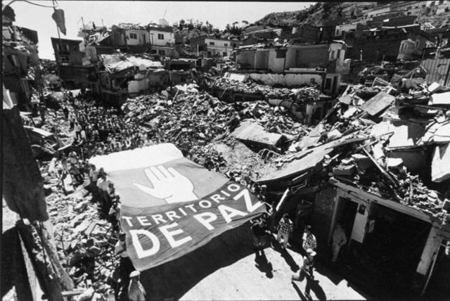 Foto registrada por Jesús Abad Colorado Lopez durante conflito armado na Colômbia