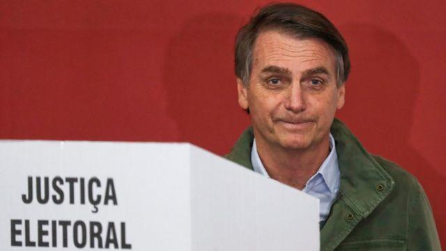 Jair Bolsonaro na sessão de votação