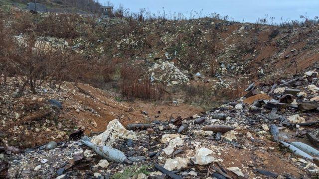 Lokasi ledakan di Abkhazia