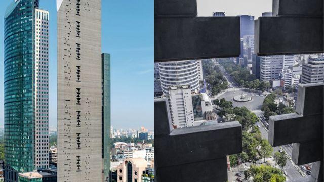 Vistas de las dos caras posteriroes del edificio