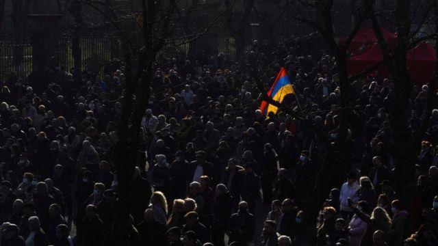 Протест оппозиции в Ереване