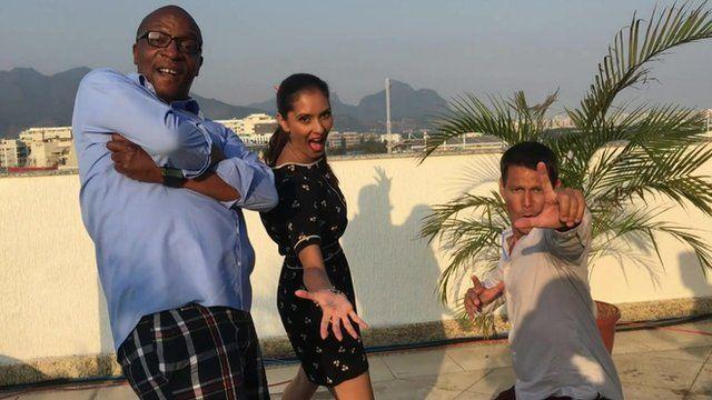 Peter Okwoche, Babita Sharma and Chris Mitchell
