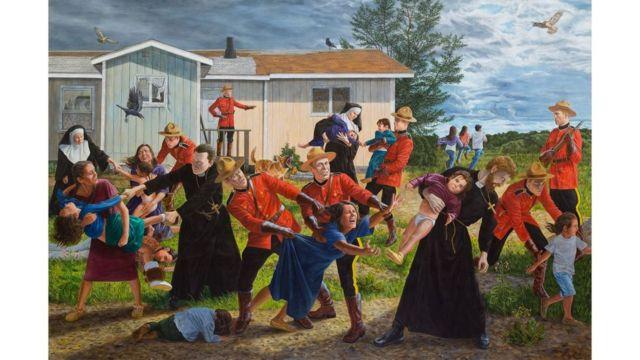 Pintura 'The Scream', de Kent Monkman