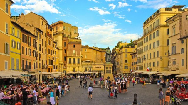 Vista do Campo di Fiori, em Roma