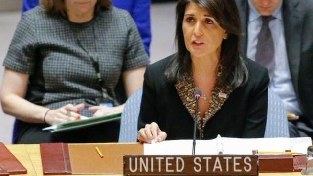 संयुक्त राष्ट्र में अमरीकी राजदूत निकी हेली