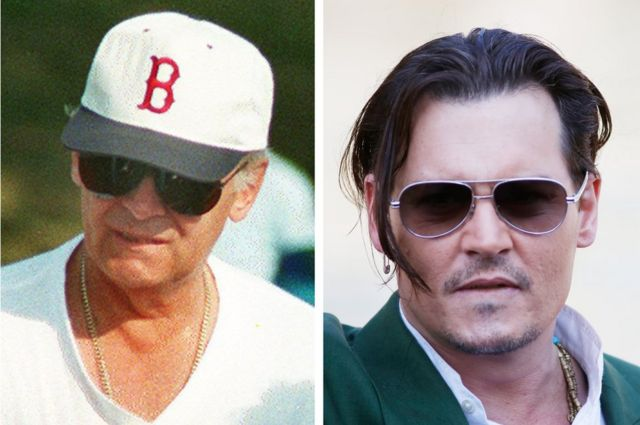 Johnny Depp (sağda) 'Kara Düzen' filminde Bulger'ı canladırmıştı.