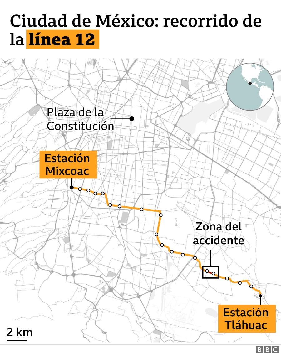 Mapa línea 12