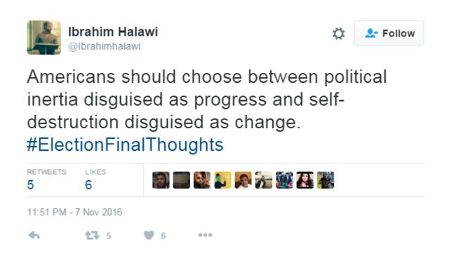 Tweet on US Election