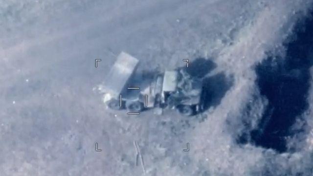 Видео минобороны Азербайджана, удар по РСЗО