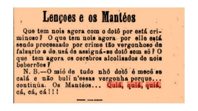 """Comentário do dia 20 de fevereiro de 1884, no jornal """"A Província de São Paulo"""", na """"Secção Livre"""""""