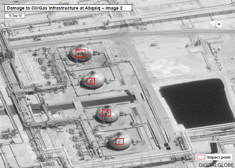 Saudi oil attacks: Images show detail of damage - BBC News