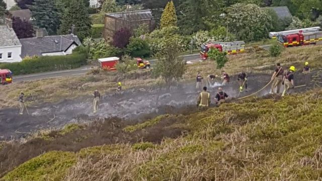 Ilkley Moor fire: Woman arrested
