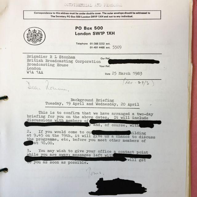 В архивных документах Би-би-си замазаны имена сотрудников МИ-5