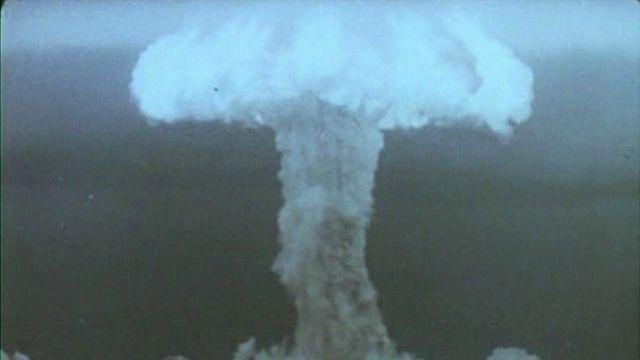 Foto de explosão nuclear