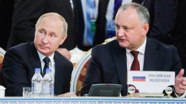 Игорь Додон и Путин