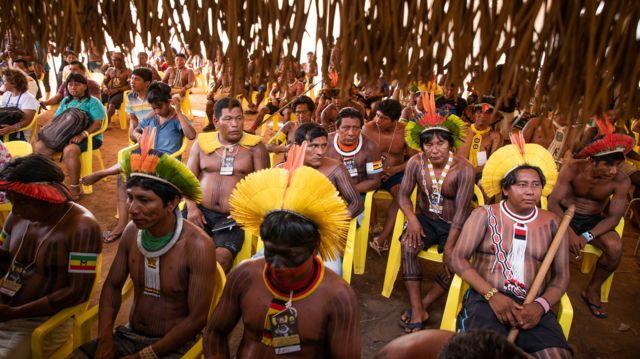 Encontro Mebengokre, na Terra Indígena Capoto Jarina