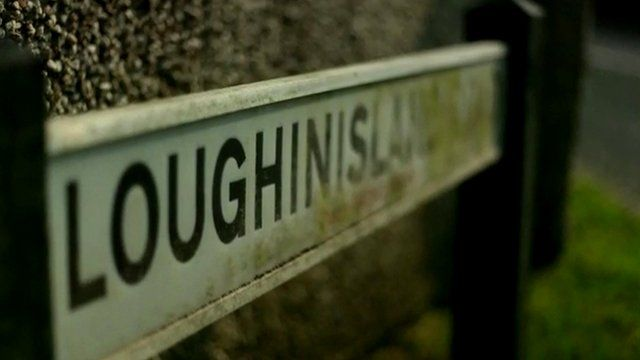 Street sign labelled Loughinisland