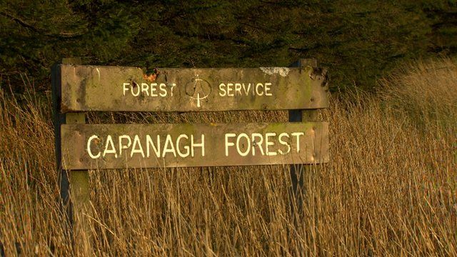 A sign that reads: Capanagh Forest