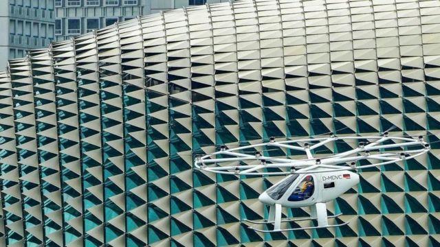 VoloCity на испытаниях в Сингапуре в октябре 2019 года