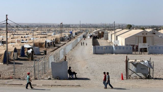 View of Hammam al-Alil camp for displaced people in northern Iraq (9 September 2017)