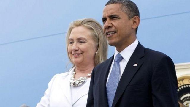 Clinton y Obama.