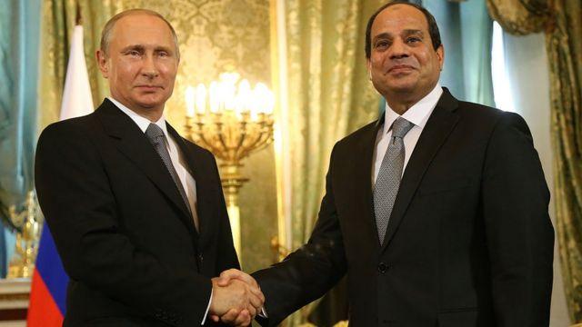 بوتين والسيسي في الكرملين (2015)