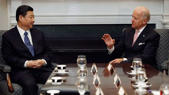 Xi Jinping y Joe Biden