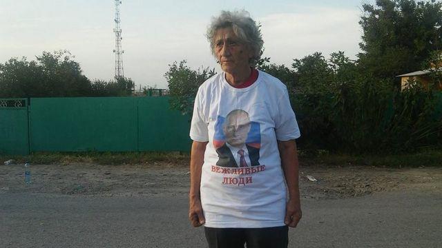 участница протеста Людмила Рябых