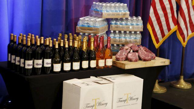 トランプ・ワインやトランプ・ウォーター