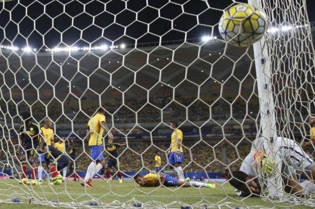 Gol en contra de Brasil.