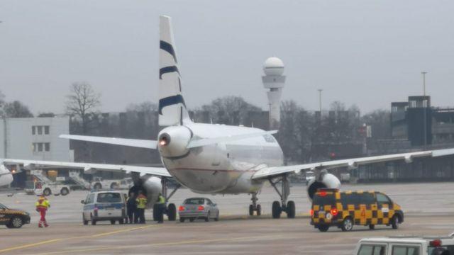 در پی این واقعه، تمام پروازها از فرودگاه هانوفر لغو شدند و به هیچ هواپیمایی نیز اجازه فرود داده نشد