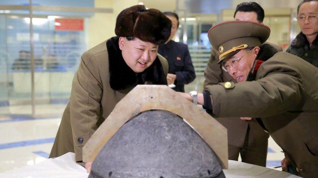 उत्तर कोरियाई नेता किम जोंग उन.