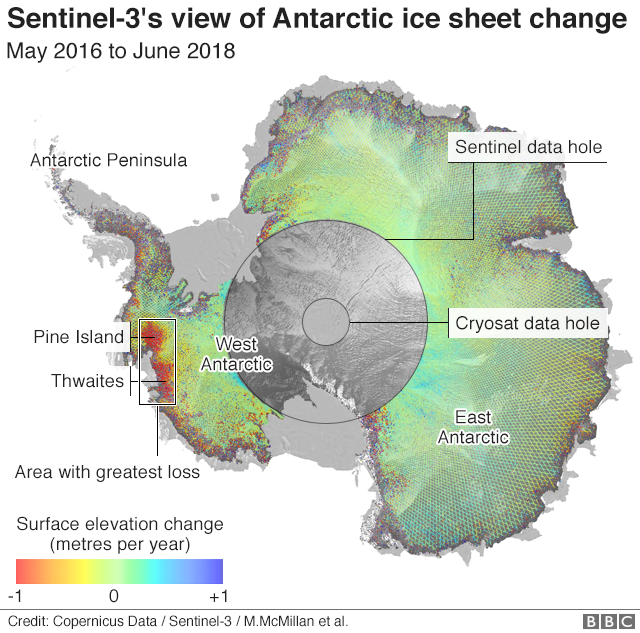 Climate Change Satellite Fix Safeguards Antarctic Data Bbc News