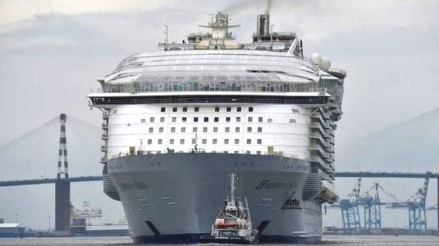 The world's largest cruise ship Harmony of the Seas