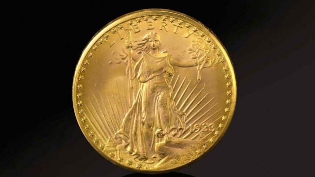 العملة الذهبية التي بيعت في المزاد