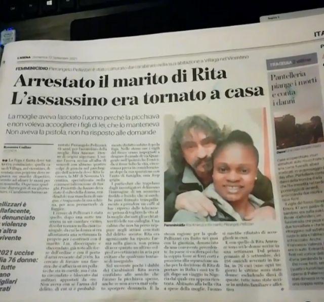 Omicidio Rita Amens Italia: FG parla contro il marito italiano accusato di aver ucciso la moglie nigeriana