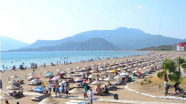 Dalyan'daki İztuzu Plajı İngilizlerin ilgi gösterdiği yerler arasında