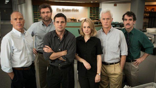 Michael Keaton, Liev Schreiber, Mark Ruffalo, Rachel McAdams, John Slattery and Brian d'Arcy James all star in Spotlight