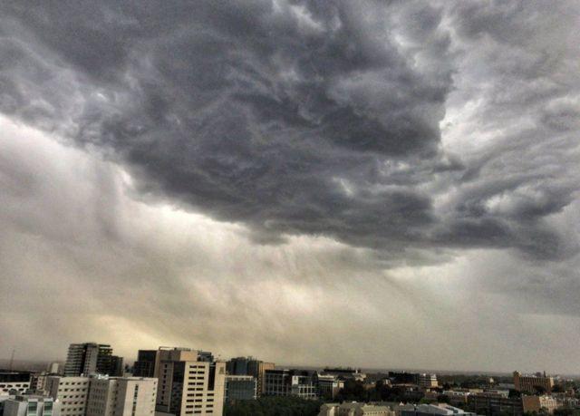 Nubes grises de tormenta