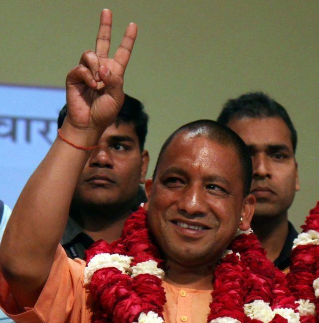 أديتياناث الوزير الأول الجديد لولاية أوتار براديش