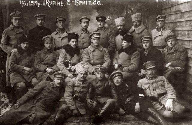 Першій курінь шостої бригади Української Галицької Армії. 17 листопада