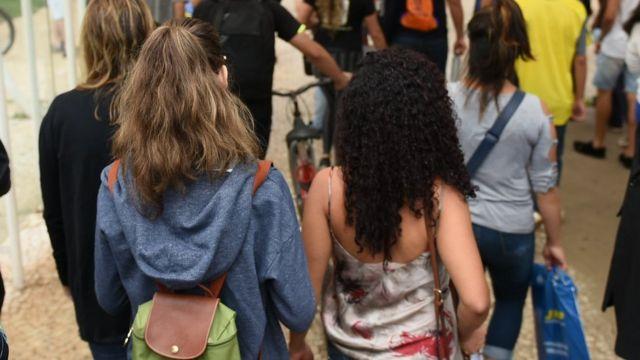 Estudantes em foto de 2018