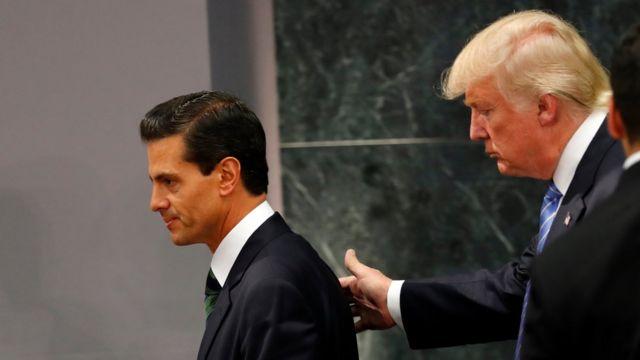 Peña Nieto y Donald Trump en México