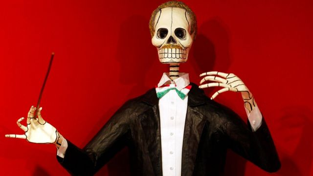 Imagen del día de muertos en México