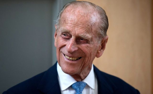 O príncipe Philip sorrindo